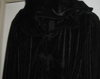 20,s Vintage Black Velvet Opera Coat/Velvet Evening Coat/Formal Evening Wear