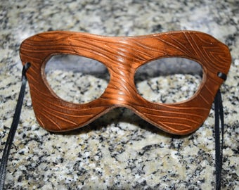Wood/tree look, Leather masks - this one available now