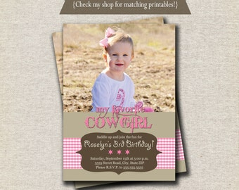 Cowgirl Invitation - pink | Cowgirl Invite - pink | Western Invitation | Pink Cowgirl Printables