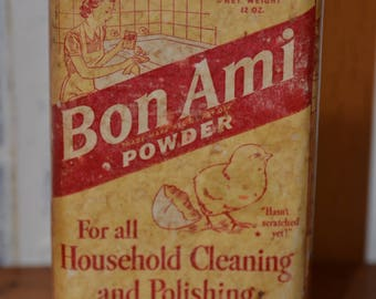 1940's Bon Ami Cleaning and Polishing Tin