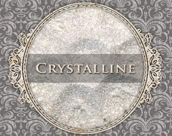 CRYSTALLINE Sparkle Eyeshadow: Samples or Jars, Translucent White Sparkle, Loose Powder Eyeshadow, Vegan Cosmetics, Ships Out in 5-8 Days