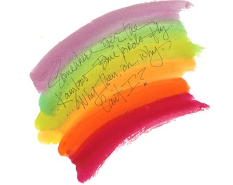 """OVER THE RAINBOW..Clipart / Digital Download / Hi Resolution of Original Watercolor . 8""""x10"""" Great for a multitude of applications."""