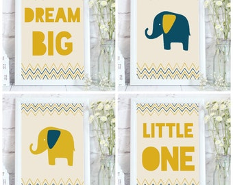 Neutral baby shower gift, Baby shower gift, gender neutral baby, Neutral wall art, Elephant nursery art, baby room wall art, baby room decor