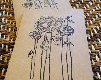 Rosy Feelings Card Set (4 Cards & Envelopes)