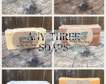 Select 3 of our Handmade Natural Soaps!!