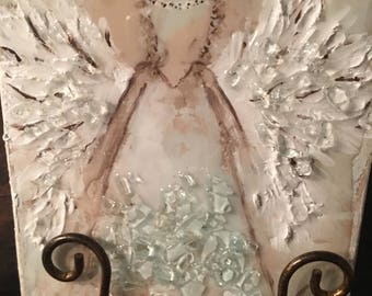 Hand Painted Textured Angel