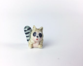 Raccoon Terrarium Accessory // Figurine // Miniature // Ceramic