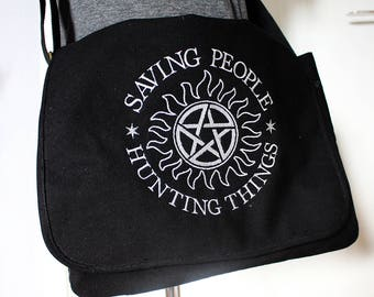 Supernatural inspired Canvas Messenger Bag