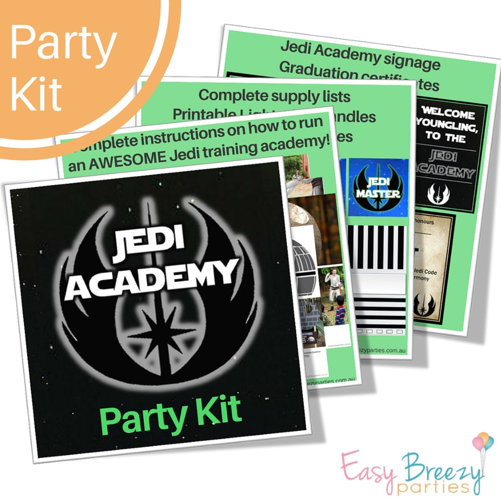 Star wars jedi training academy party kit activities zoom alramifo Images