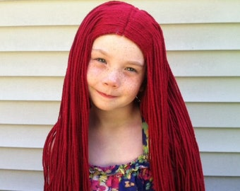 Halloween costume, Costume Hair, Cosplay costume, Red wig, Kids Gift, Kids costume, Womens costume, Kids dress up, Dress up play, Kids wig