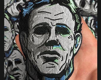 Embroidered Michael Myers Mask Patch