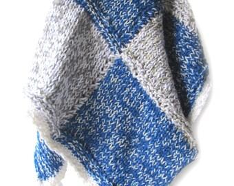 "KSS New Handmade Blue Square Baby Blanket 32x32"" Newborn and up BB-056"