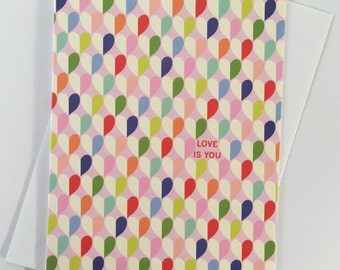 Greetings card for a loved one / heart greetings card / Valentine's card