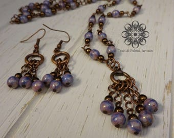 Lavender Twilight Necklace and Earrings