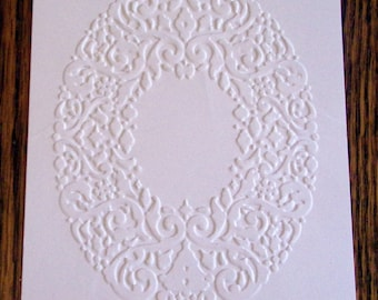 HOLIDAY FRAME Embossed Card Stock Panels Perfect for Scrapbooking and Card Making - Set of 12