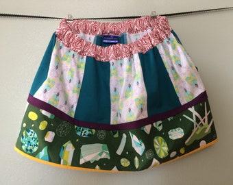 Gemstones and bugs skirt