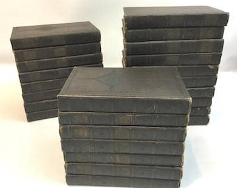 Book Set, Book Collection, Instant Library, Vintage Book Set, Decorative Books, Shabby Decor, Book Props, Boho Decor, University Library
