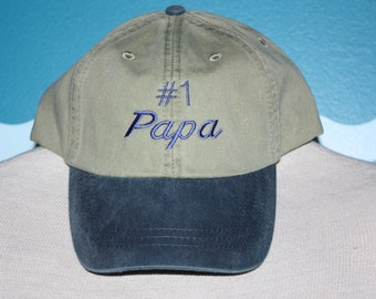 Papa Baseball Hat - Gift for Papa - Baby announcement  gift - Grandpa ball cap - Grandpa Baseball cap - Custom Embroidered Hat