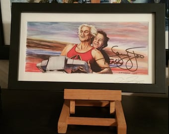 "Autographed Ted - He'll Save Everyone of Us Even Marky Mark Signed by Sam Jones ""Flash Gordon"""