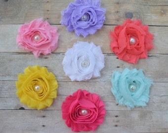 Flower for hair, Flower hair clips, Set of flower hairclips, adult hair flowers, toddler flower bows