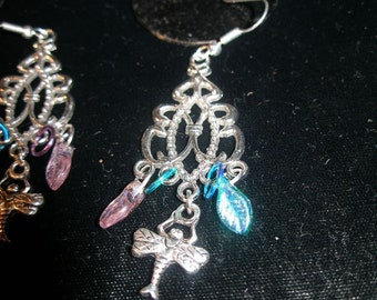 Silver earrings Dramatic dragonfly   VALENTINE  Harbinger of Spring  FunkyAlternativeJewelry, OlympiaEtsy, etsyBead, paganteam, WWWG