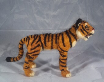 Needle Felt Tiger - Customizable - White, Orange, or Other Color
