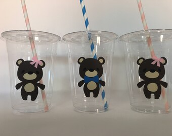 Teddy Bear Party Cups, Teddy Bear Baby Shower, Teddy Bear Birthday, Bear Party Cups, Bear Baby Shower Cups, Teddy Bear Picnic Party Cups