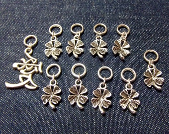 Lucky stitch markers/progress keepers