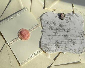 Calc floral invitations and cameo invitation