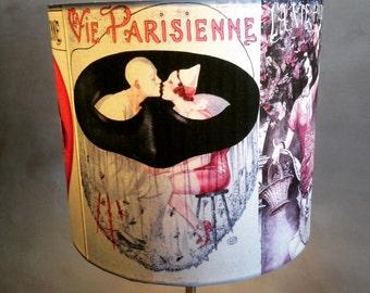 Old Vintage Paris Poster Art inspired Lamp Shade 'LaVieEstBelle'