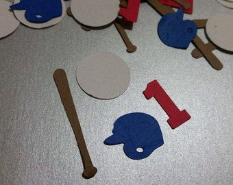200 Pieces Baseball Confetti, Baseball party confetti, With number or letter of choice.
