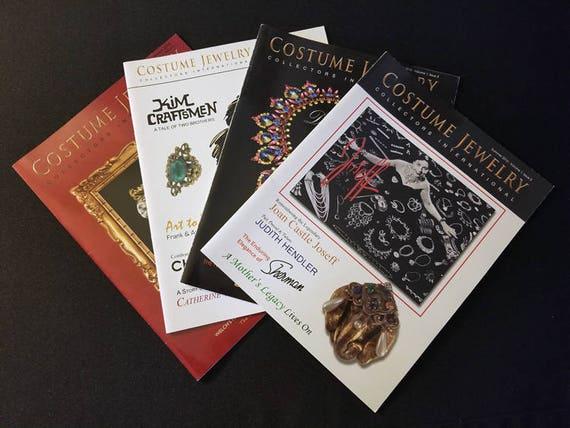 Complete 2010 set of 4 CJCI Costume Jewelry Collectors International magazines