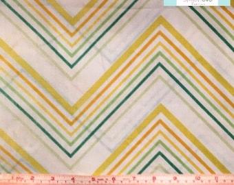 Twin Vintage Yellow Chevron Flat Sheet