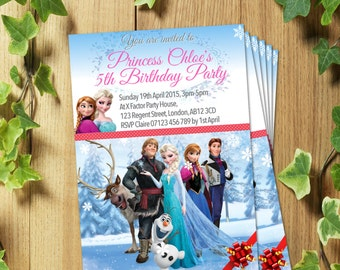 20 Personalized ELSA Birthday Party Invitation Invite Design (Thank you Cards)