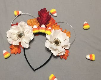 Fall Candy Corn Inspired Wire Mouse Ears