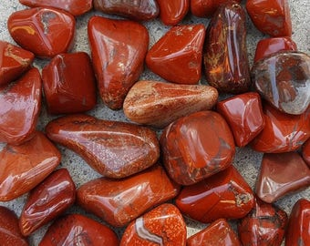 Red Jasper Tumbled, One Red Jasper, Empowerment Stone, Jasper Stone, Jasper Tumbled