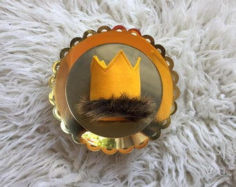 Wild Things Gold Crown, Gold Birthday, Gold Wild Things, Wild One Birthday, Wild Birthday, Fur Birthday, Fur Crown, Fur Crown Birthday, Fur