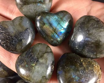 Labradorite Heart Crystal Stone Heart Healing Crystals and Stones - Prefect for crystal collections and more! GemCity