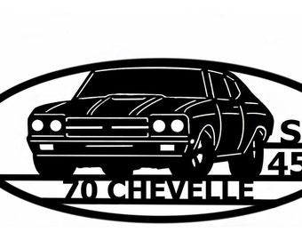 1970 Chevelle - Wall Art - Metal Art - Home Decor - Car Art -  Makes a GREAT gift!