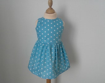Dress with polka dots in 2 years