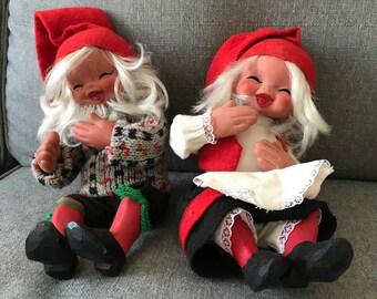 Two Arne Hasle Vintage Norge Dolls