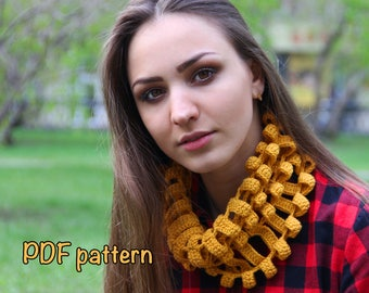 scarf crochet pattern scarf pattern scarf crocheted PDF pattern scarf pattern crocheted cowl crochet pattern neck warmer crochet pattern DIY