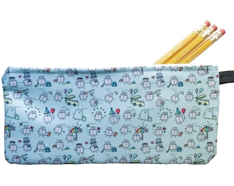 Tiny Robots Pencil Case - Zippered Pouch
