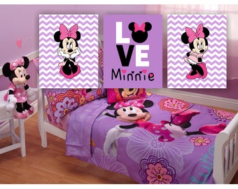 INSTANT DOWNLOAD Minnie Mouse Mickey Mouse and Name Art