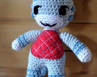 Looly, animal crossing, doudou ou  décoration, crochet façon amigurumi, fait main