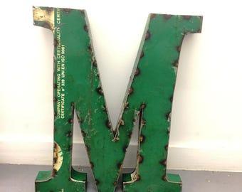 Large Metal Letter M