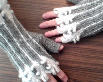 Gloves without Fingers / Authoring / Ladies' Winter Mitts