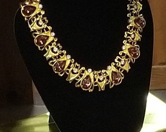 Regal Topaz and Crystal Collar