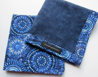 Blue Medallion EDC Hank Handmade Hank Everyday Carry Pocket Dump Hank Fathers Day Gift Mens Handkerchief Gift for Him Gift for Her