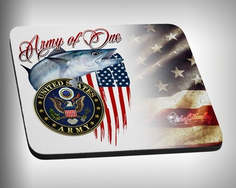 Army Armed Forces Mouse Pad Custom Graphic Novelty Mousepad Great Gift Customized Personalized